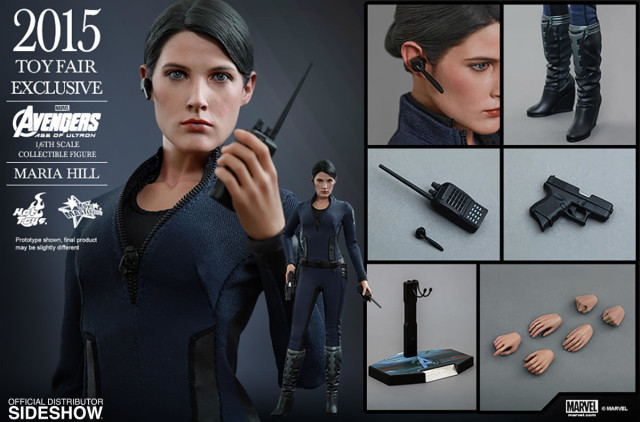 Hot Toys Maria Hill Figure and Accessories