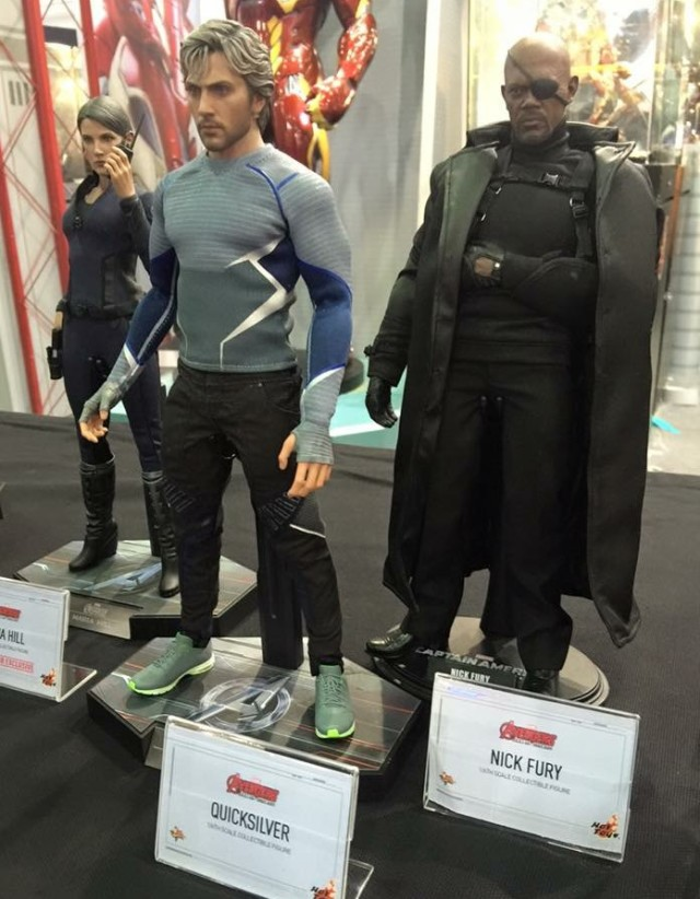 Hot Toys Quicksilver and Nick Fury Sixth Scale Figures