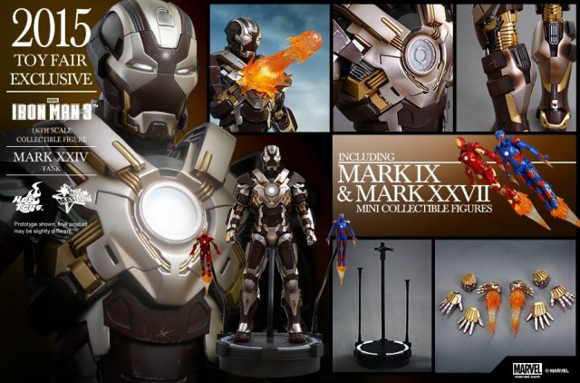Hot Toys Tank Iron Man Figure and Accessories