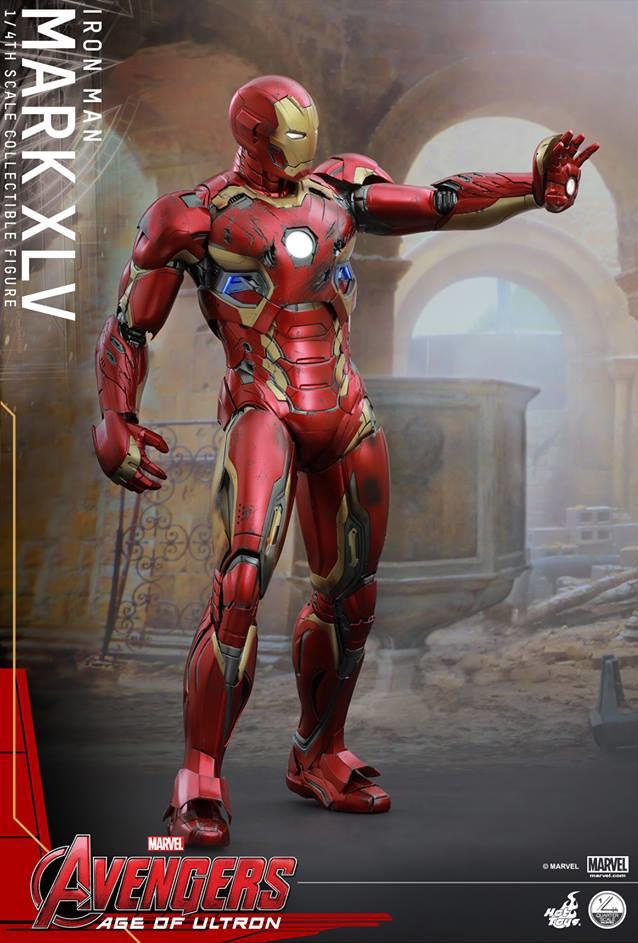 Mark XLV Iron Man Hot Toys 18 Inch Figure