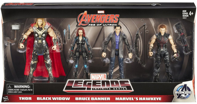 Marvel Legends Avengers 4-Pack Packaged Amazon Exclusive