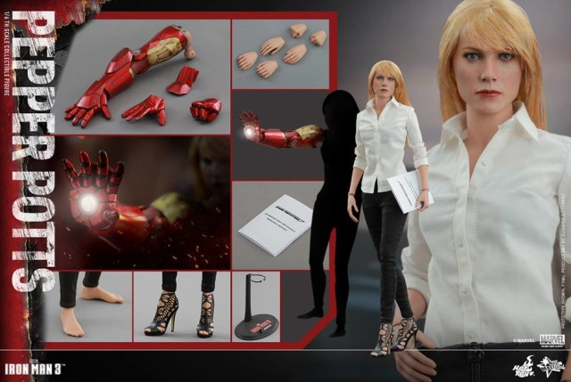 Pepper Potts Hot Toys Figure and Accessories Gwyneth Paltrow