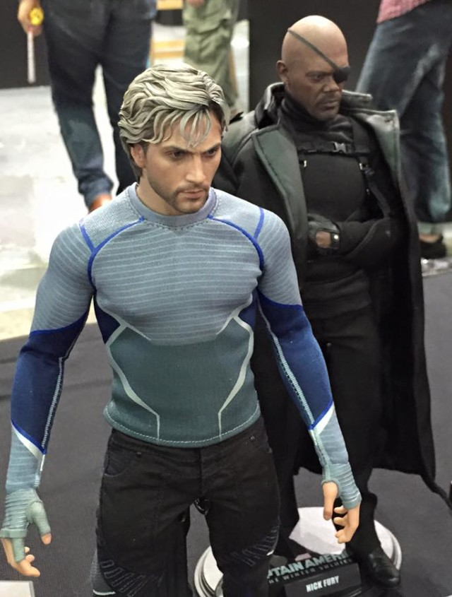 Quicksilver Hot Toys Nick Fury Movie Masterpiece Series Figures