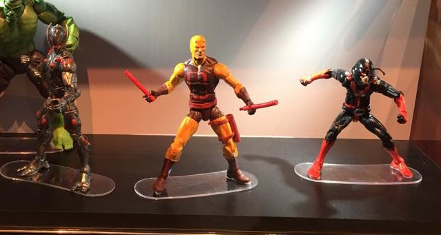 SDCC 2015 Marvel Legends Yellow Daredevil Black Ant Man Figures