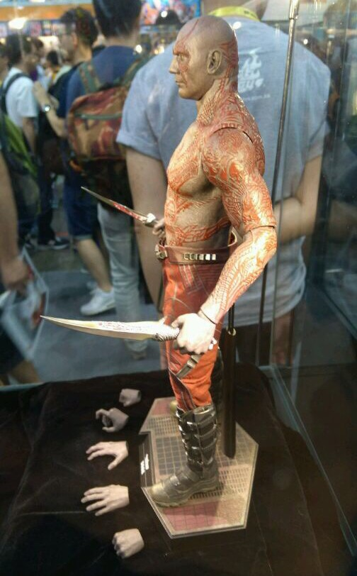 Side View of Hot Toys Drax Sixth Scale Figure