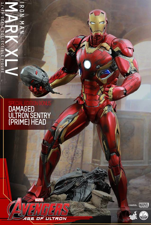 Sideshow Exclusive Quarter Scale Iron Man Mark 45 with Ultron Sentry Prime Head