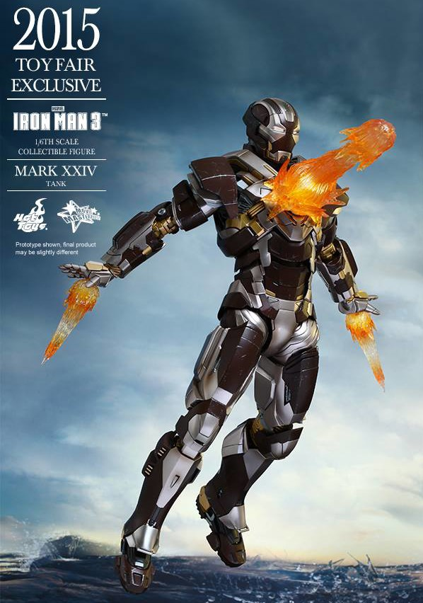 Tank Iron Man Hot Toys Figure Chest Blast Effects Pieces