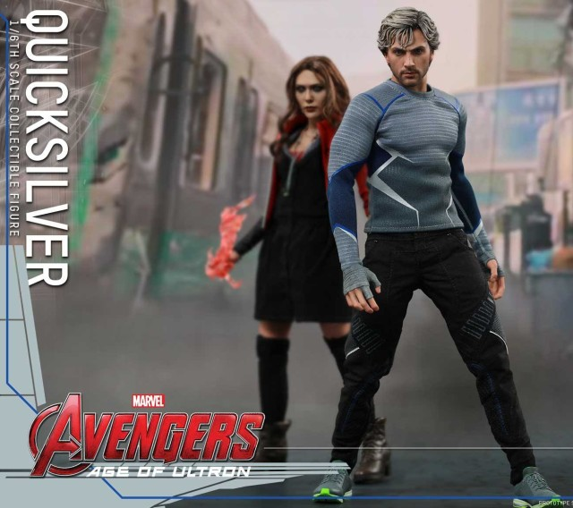 Hot Toys Quicksilver and Scarlet Witch MMS Figures Together