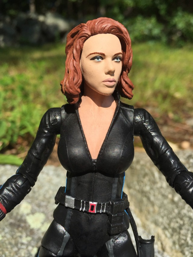 Close-Up of DST Black Widow Age of Ultron Marvel Select Figure Head