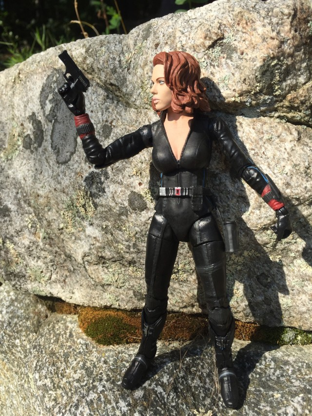 "7"" Marvel Select AOU Black Widow Figure with Pistol"