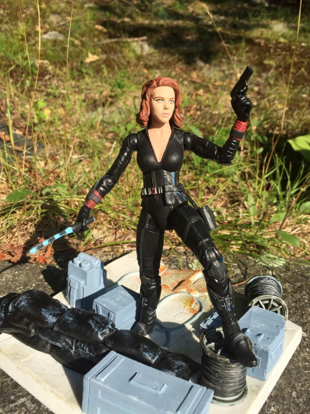 Marvel Select Movie Black Widow Figure on Display Base