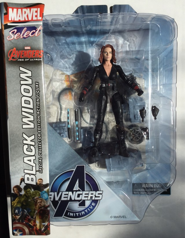 Marvel Select Movie Black Widow Figure Packaged