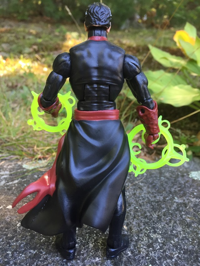 Back of Marvel Legends Hulkbuster Series Doctor Strange Figure