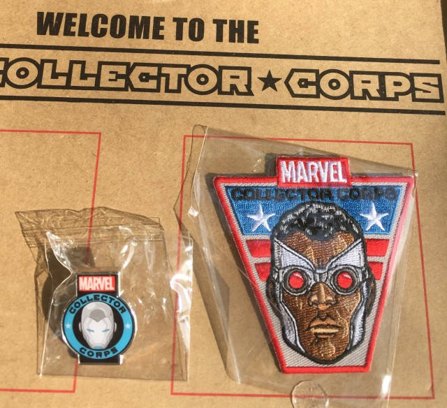 August 2015 Marvel Collector Corps Pin Patch Falcon Iron Man