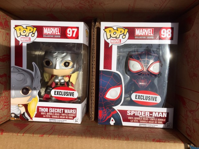 Marvel Collector Corps Secret Wars Thor Spider-Man POP Vinyl Exclusives