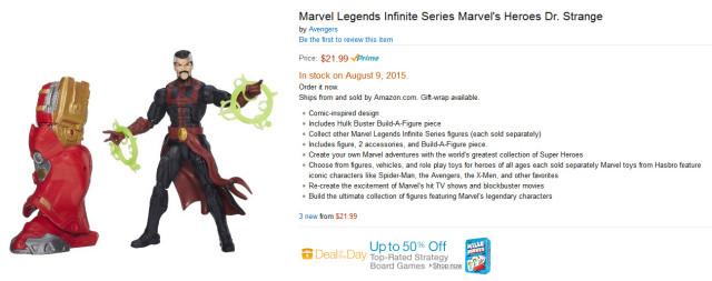 Marvel Legends Doctor Strange Figure with Hulkbuster Iron Man Leg