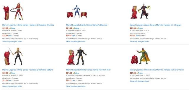 Marvel Legends Hulkbuster Series on Amazon