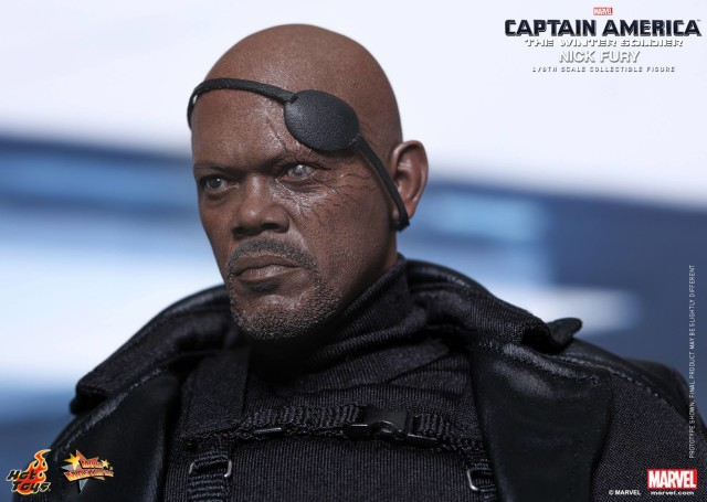 Nick Fury Damaged Eye Removable Eyepatch Hot Toys Figure