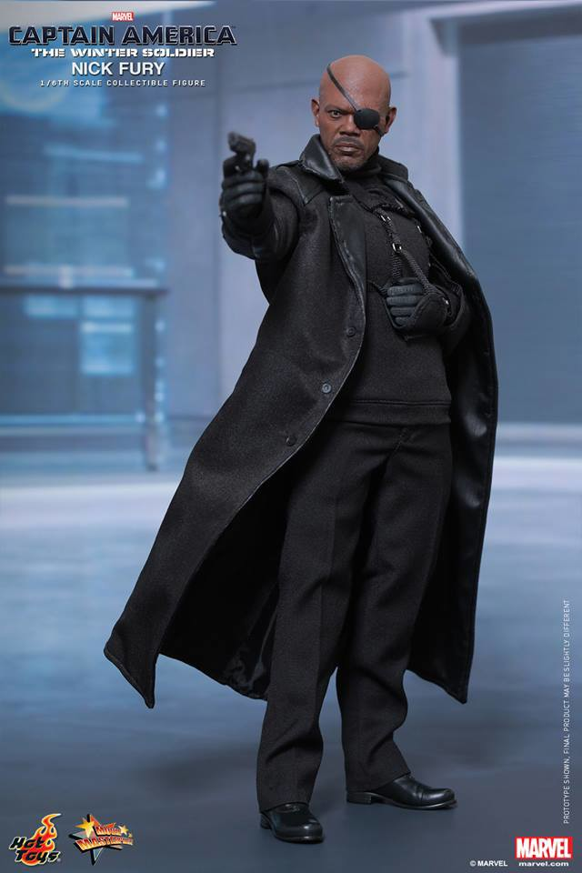 Nick Fury Hot Toys Figure Captain America The Winter Soldier
