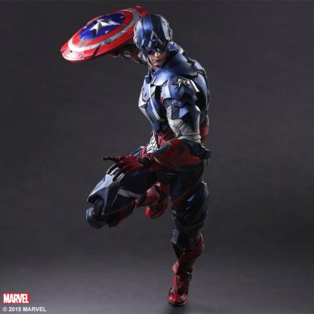 Play Arts Kai Captain America Figure