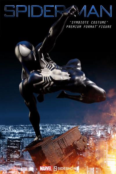 Sideshow Black Costume Spider-Man Premium Format Figure