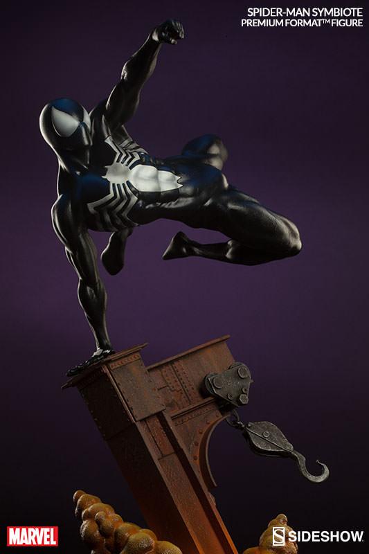 Sideshow Premium Format Figure Black Costume Spider-Man