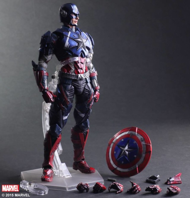 Square-Enix Captain America Play Arts Kai Figure and Accessories