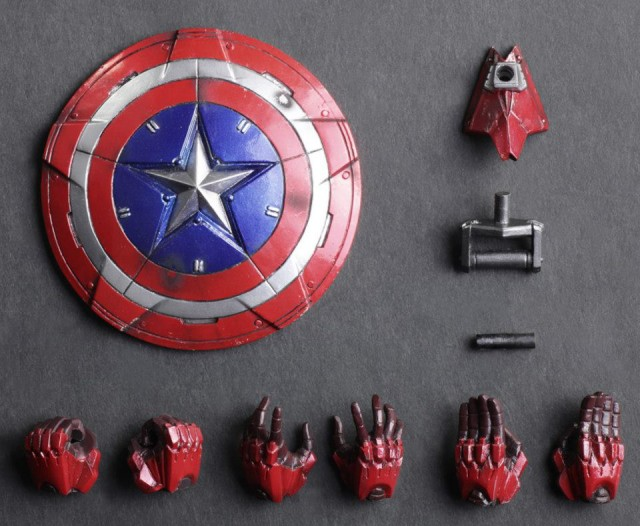 Square-Enix Play Arts Captain America Accessories and Shield