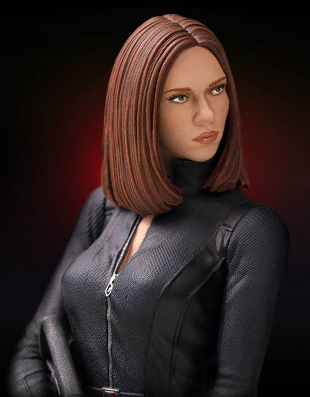 Close-Up of Scarlett Johansson Black Widow Statue Head