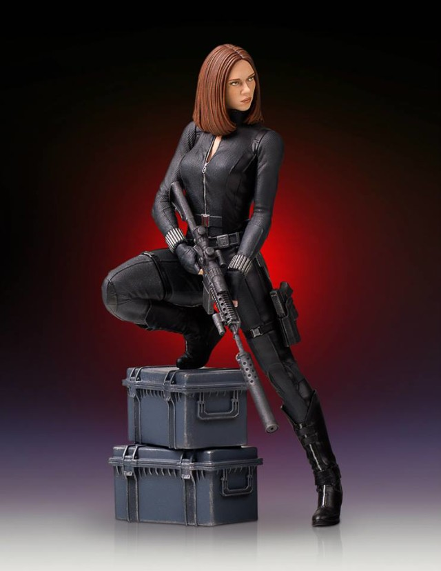 Gentle Giant Captain America The Winter Soldier Black Widow Statue 9 Inch