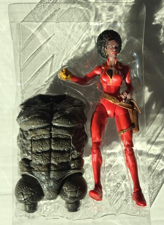Misty Knight Marvel Legends Figure with Rhino Build-A-Figure Torso
