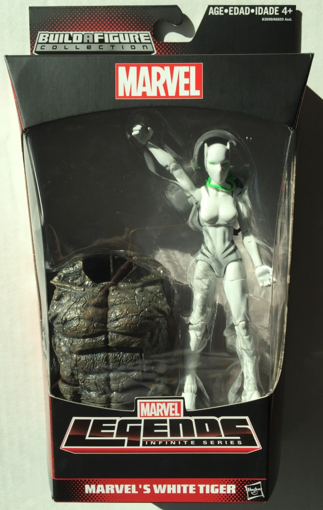 Marvel Legends Infinite Series White Tiger Figure Packaged