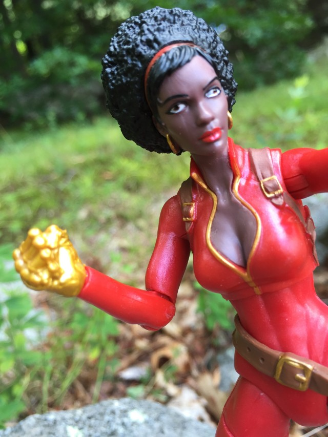 Marvel Legends Infinite Series Misty Knight Figure Close-Up of Eyes