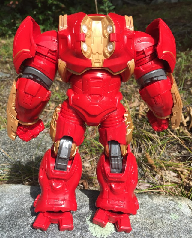 Back of Marvel Legends Hulk Buster Iron Man Build-A-Figure