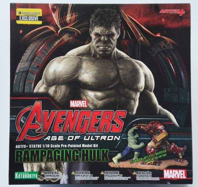 Kotobukiya Rampaging Hulk Box Front EE Exclusive Sticker