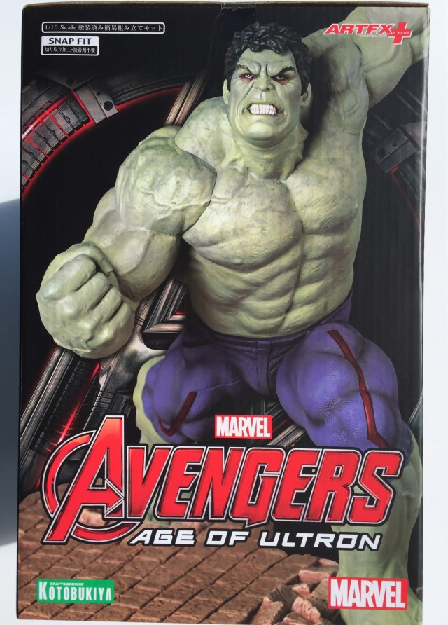 Side of Box Koto Rampaging Hulk Statue