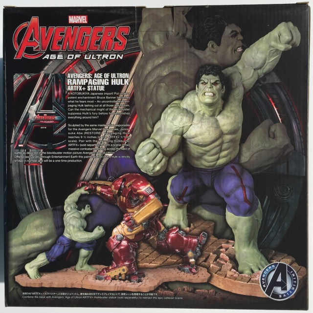 Exclusive Rampaging Hulk Kotobukiya Box Back