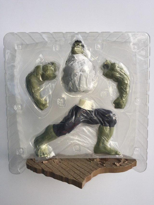 Unassembled Pieces of Koto Age of Ultron Rampaging Grey Hulk Statue