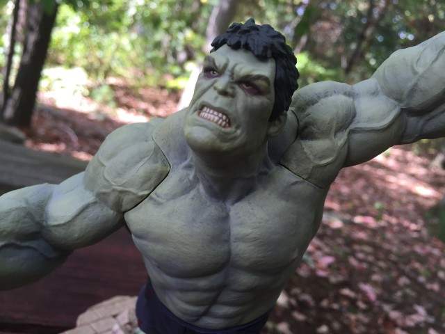 Close-Up of Rampaging Hulk Head Sculpt
