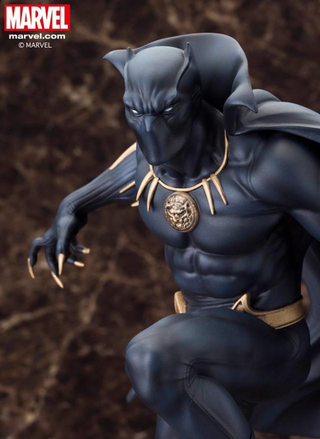 Kotobukiya Black Panther Fine Arts Statue Close-Up