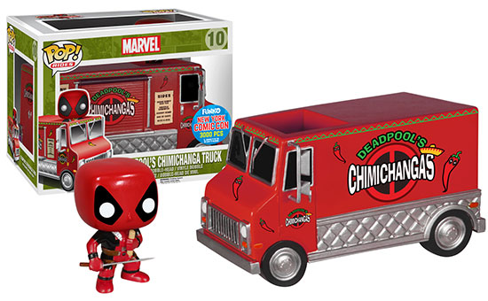 NYCC 2015 Exclusive Funko Deadpool Red Taco Truck POP Vinyls Rides