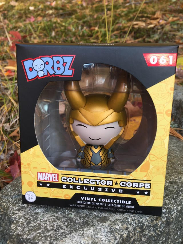 October Collector Corps Exclusive Dorbz Loki Packaged