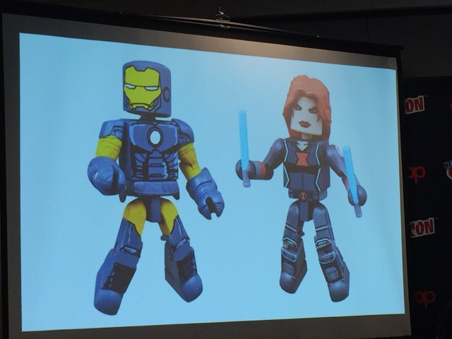 Marvel Animated Minimates Alternate Universe Iron Man Black Widow Figures