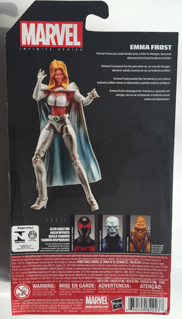 Cardback Marvel Infinite Series Wave 8 Emma Frost Action Figure