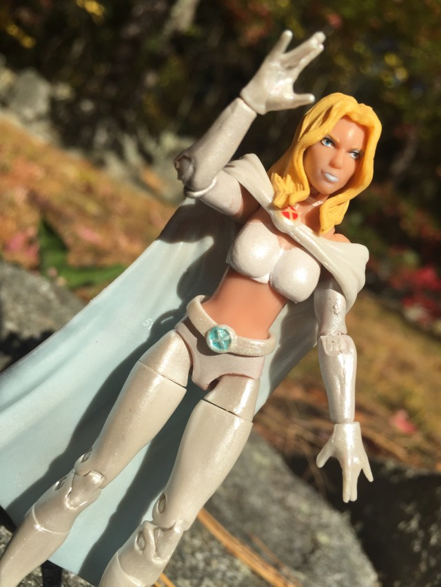 "Close-Up of Emma Frost Hasbro 3 3/4"" Figure"