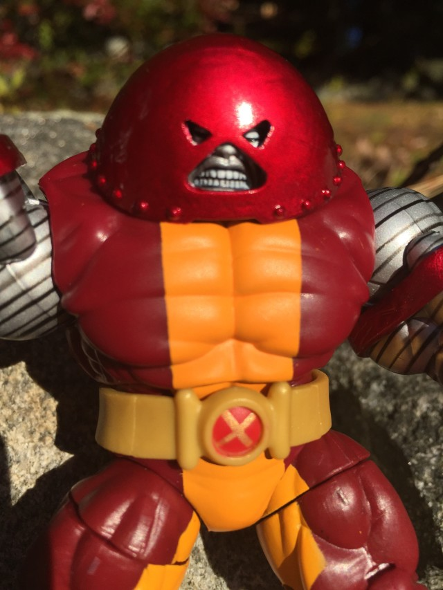 "Close-Up of Marvel Infinite Series Colossus Juggernaut 4"" Figure"