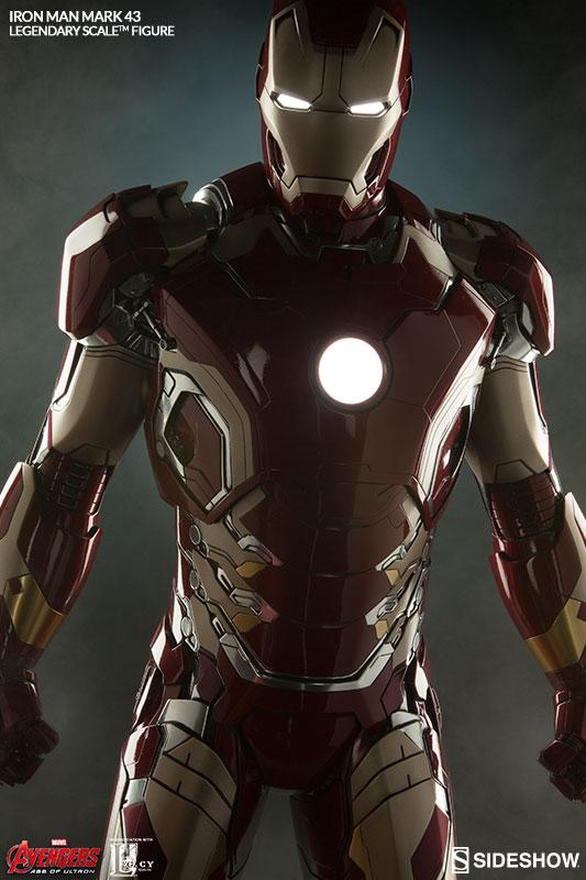 Legendary Scale Mark 43 Iron Man Figure Light Up LED Electronic Features