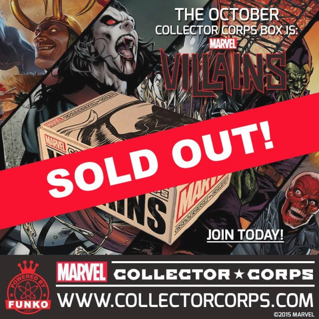 Marvel Collector Corps Villains Box Sold Out
