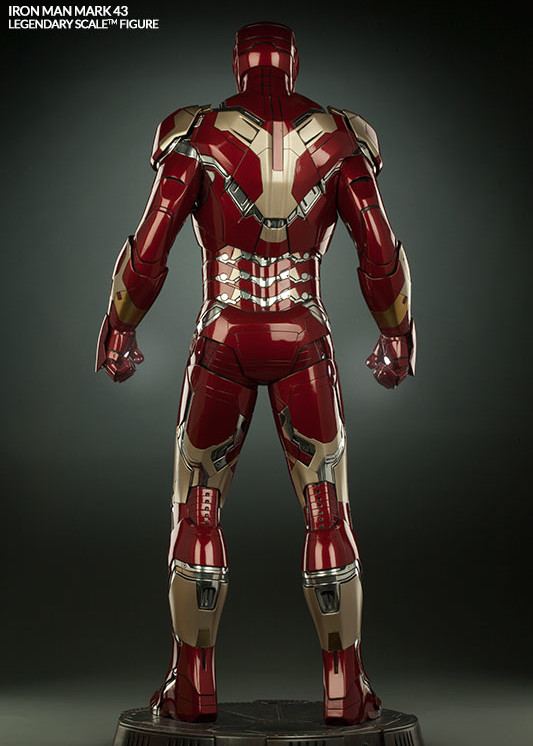 Sideshow Legendary Scale Iron Man Mark 43 Statue Rear View