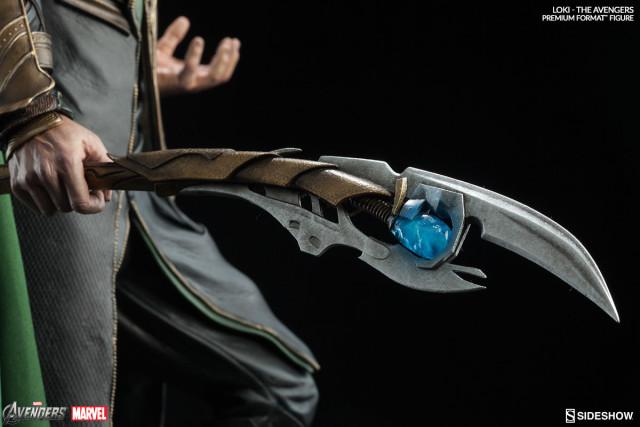 Sideshow Loki Premium Format Statue Chitauri Scepter